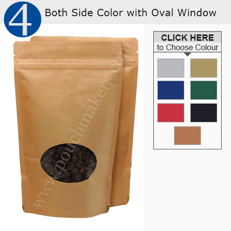 Oval Window Stand Up Pouches
