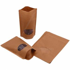 Stand Up Pouches With Oval Window