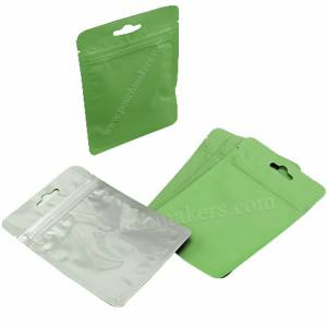 Three Side Seal Pouches With Zipper and Euro Slot