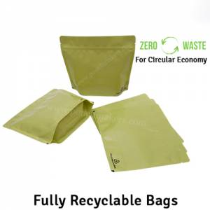 Recyclable Stand Up Pouches Wider Width Size