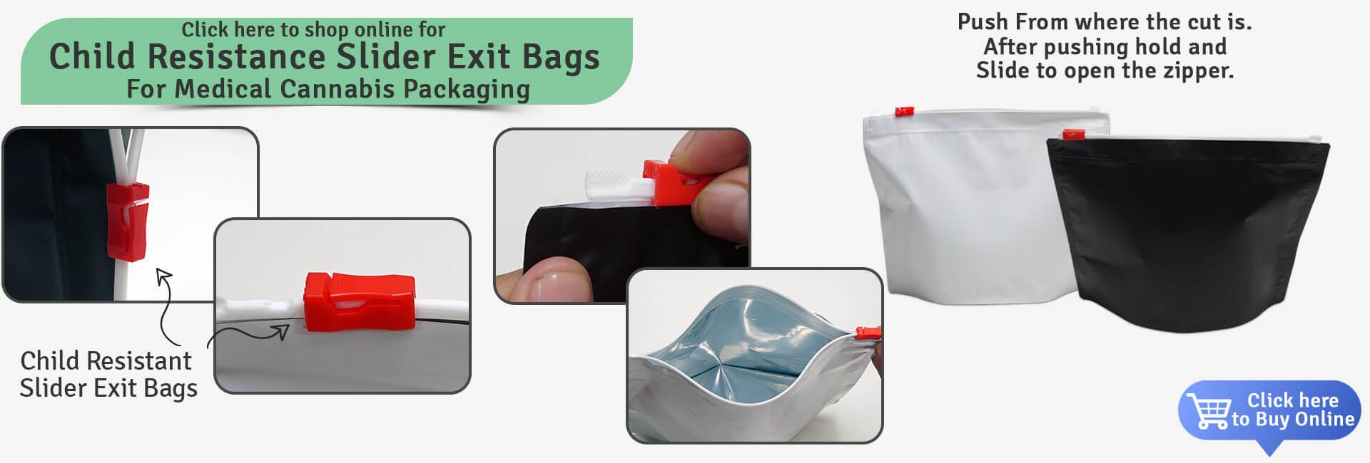 Child Resistance Slider Exit Bags